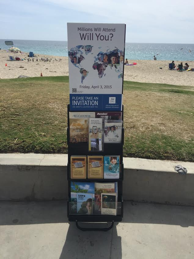 Jehovah's Witness, Watchtower, Jehovah's Witness Recruitment Aliso Beach, Aliso Beach Park, ALiso Creek Beach