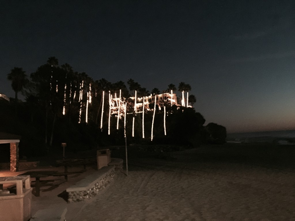 Merry Christmas, Christmas lights, Aliso Beach