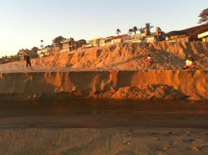Aliso Beach Mom Watches Kids Flinging Themselves Down Sand Cliffs.jpg